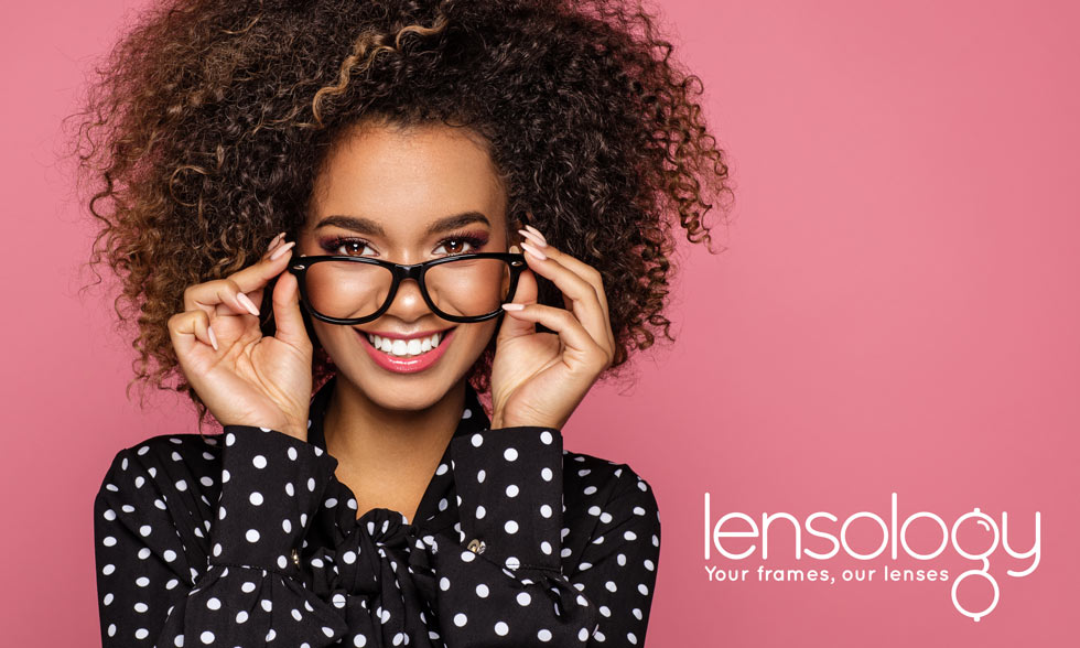 replacement progressive lenses fitted into glasses frames