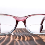 pair of bifocal glasses