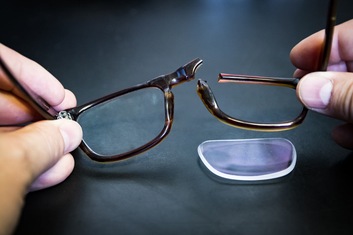 broken glasses frames